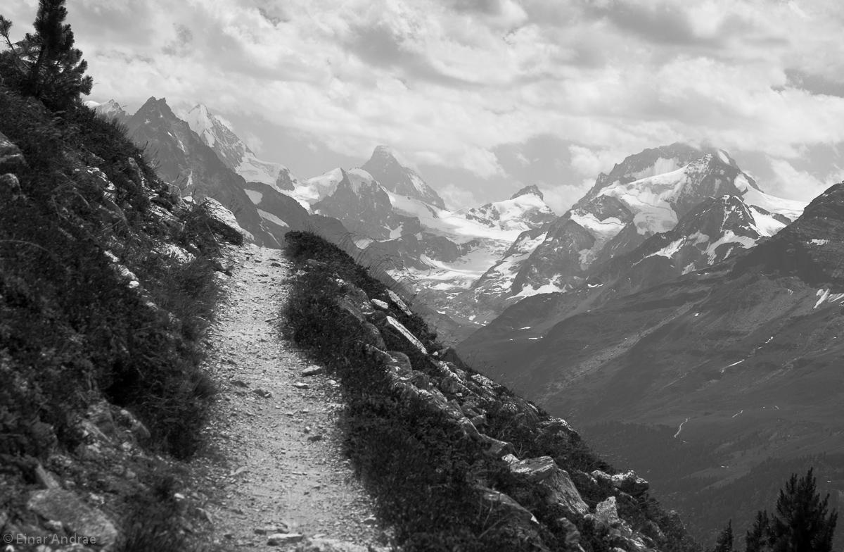 Besso, Matterhorn, Dent Blanche - Talschluss Zinal